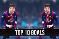 Top 10 bàn thắng đẹp nhất năm 2015 của Neymar