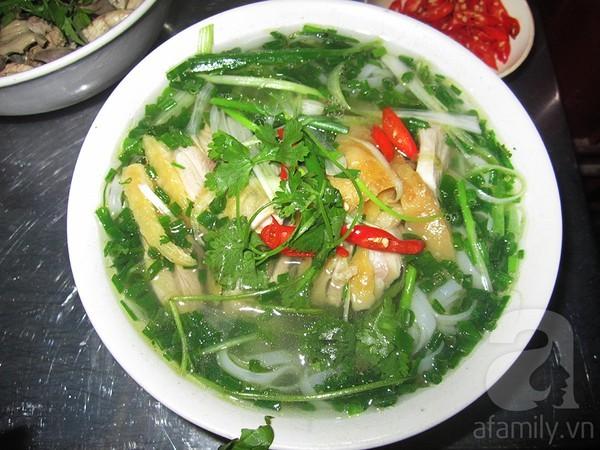 6 quán phở gà, Hà Nội, nước dùng, miếng thịt