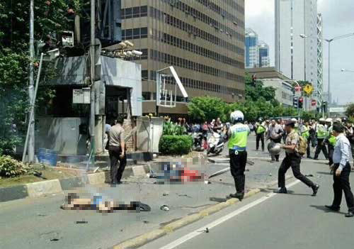 Hình ảnh ghê rợn từ hiện trường nổ bom