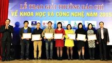 VietNamNet đoạt giải Ba báo chí về KH-CN 2015