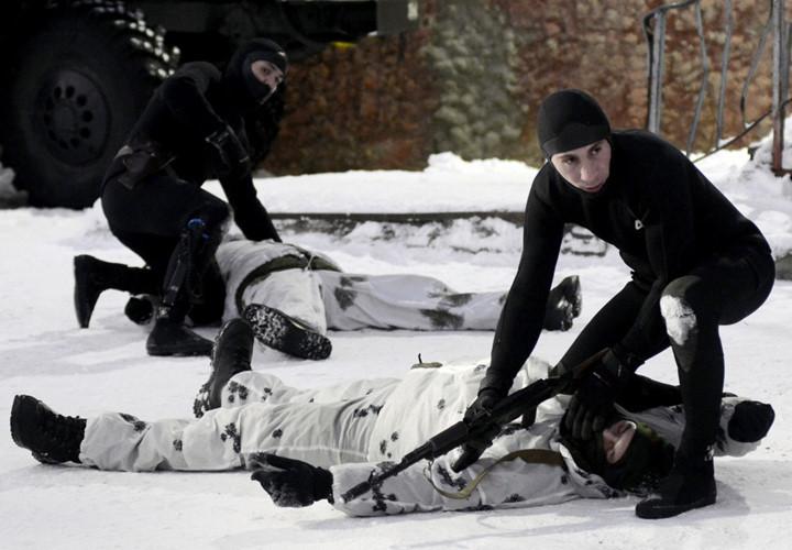 Toàn cảnh tập trận của đặc nhiệm thủy quân lục chiến Nga