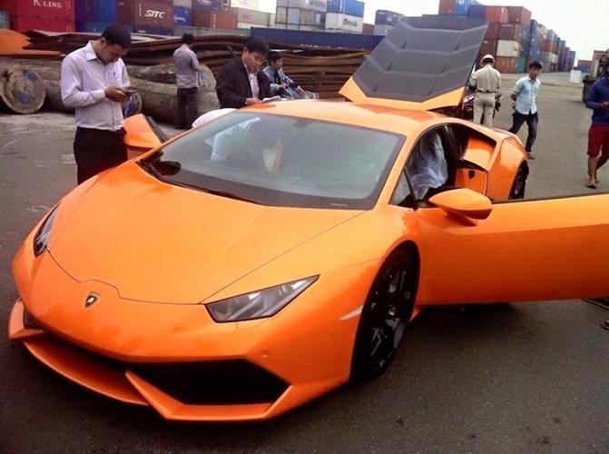 siêu xe, ô tô, Lamborghini Huracan, nhà giàu, dân chơi, nhập khẩu