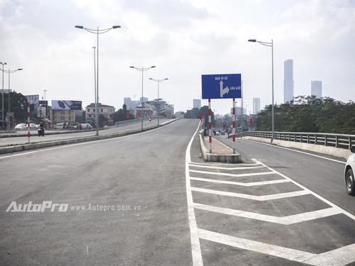 đường vành đai 2, thông xe đường Nhật Tân-Cầu Giấy
