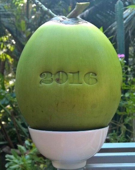 300 ngàn đồng/quả dừa khắc chữ 'Tài, Lộc' chưng Tết