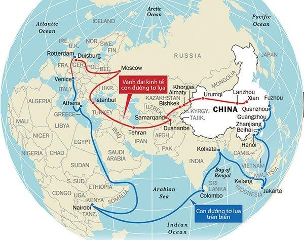 Một vành đai, một con đường, Con đường tơ lụa trên biển, Trung Quốc, Mỹ, EU, Tập Cận Bình, AIIB,