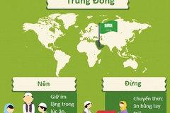 Những quy tắc trên bàn ăn khắp năm châu