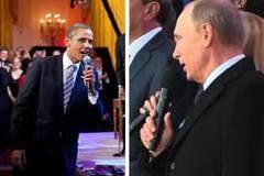 Khi Obama, Putin cất tiếng hát