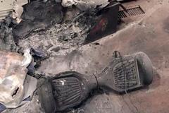 Suýt chết cháy vì ván trượt từ tính nổ trong nhà