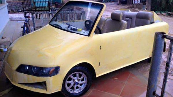 Xôn xao ô tô 'Mini Cooper' mui trần tự chế ở Thanh Hóa