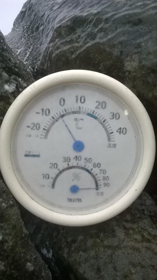 Nhiệt độ trên chùa Đồng ngày 24/1.