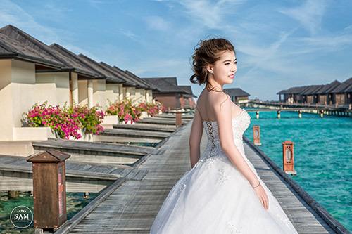 Mãn nhãn bộ ảnh cưới 200 triệu ở Maldives