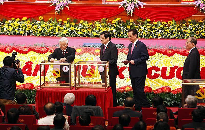 đại hội đảng 12, ủy viên trung ương khóa 12, Tổng bí thư Nguyễn Phú Trọng, Chủ tịch nước Trương Tấn Sang, Thủ tướng Nguyễn Tấn Dũng, Chủ tịch QH Nguyễn Sinh Hùng