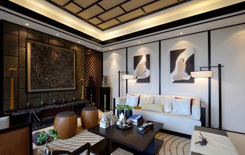 20160127140028 image010 Ngắm nhìn mê mẩn với những phòng khách đậm chất Á Đông