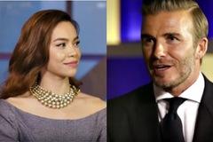 Hà Hồ nói chuyện bằng tiếng Anh cùng Beckham