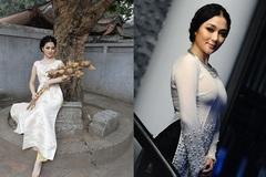Diện áo dài trắng du xuân đẹp như Hoa hậu Việt
