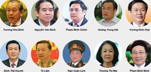 đại hội Đảng 12, ủy viên Bộ Chính trị