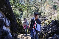 Công Phượng leo núi, về quê ăn Tết