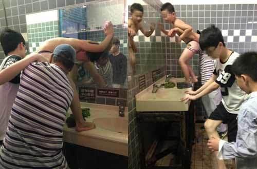 Du khách, Trung Quốc, bồn rửa mặt, du lịch, Đài Loan, cư xử lịch sự