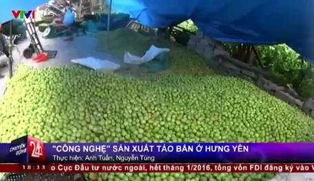 Cận cảnh công nghệ sản xuất táo