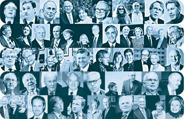 Tỷ phú làm từ thiện, The Giving Pledge, Warren Buffett, Bill Gates, cho đi là nhận