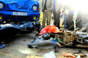 Xe tải đâm 3 xe máy đi chúc Tết, 5 người cùng nhà gặp nạn