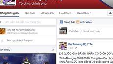 Facebook Bộ trưởng Kim Tiến cập nhật liên tục ngày Tết