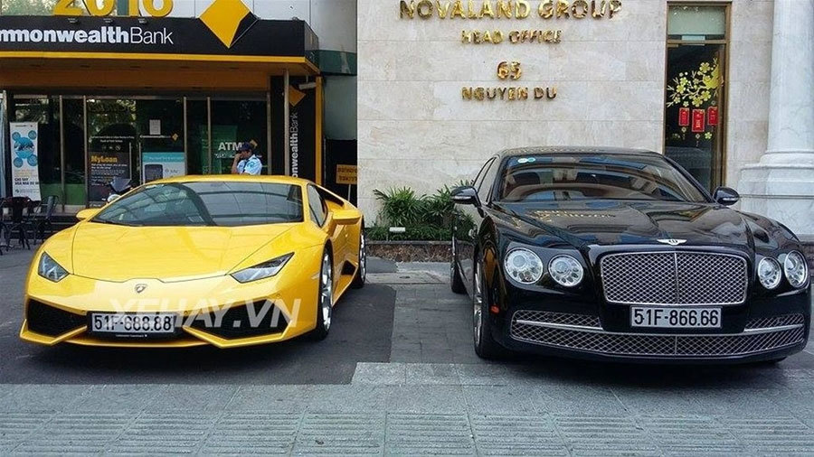 20160212075447 sai thanh sieu xe 6 Bộ đôi siêu xe Lamborghini Huracan và Bentley Flying Spur với cặp biển tứ quý siêu khủng