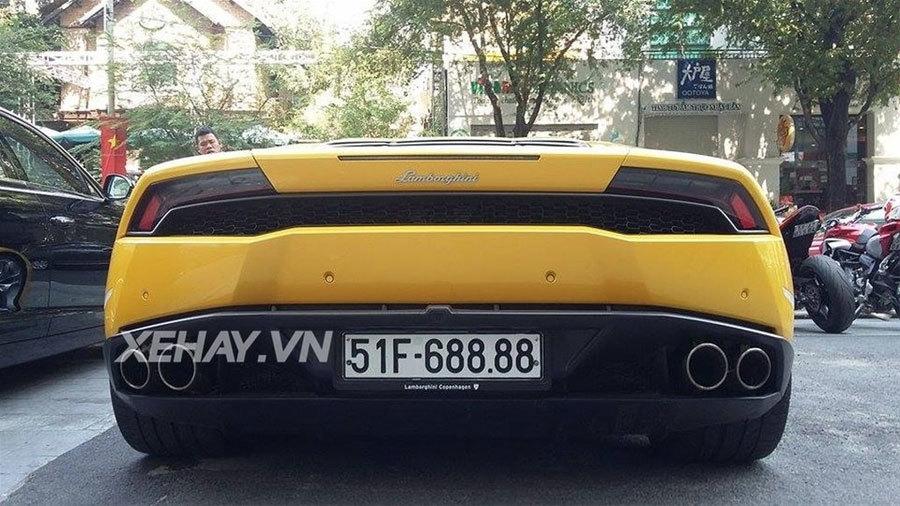 20160212075447 sai thanh sieu xe 8 Bộ đôi siêu xe Lamborghini Huracan và Bentley Flying Spur với cặp biển tứ quý siêu khủng