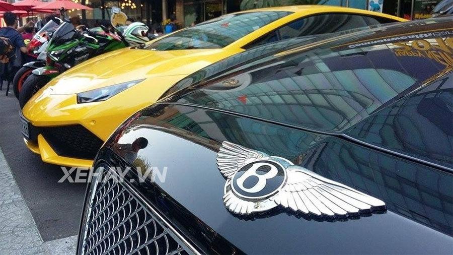 20160212075447 sai thanh sieu xe 9 Bộ đôi siêu xe Lamborghini Huracan và Bentley Flying Spur với cặp biển tứ quý siêu khủng