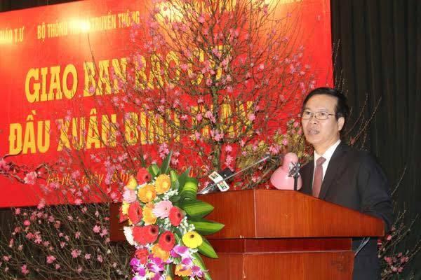 Đại hội đảng 12, Thường trực Ban Bí thư Đinh Thế Huynh, báo chí