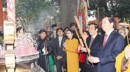 Bộ trưởng Trần Đại Quang dâng hương tại Hoàng Thành Thăng Long