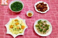 Bữa cơm chiều đơn giản mà ngon
