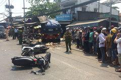 Xe ben tông hàng loạt xe máy ở Sài Gòn, 2 người tử vong
