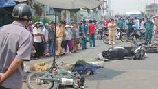 Hiện trường vụ tông xe liên hoàn, 2 người chết ở Sài Gòn