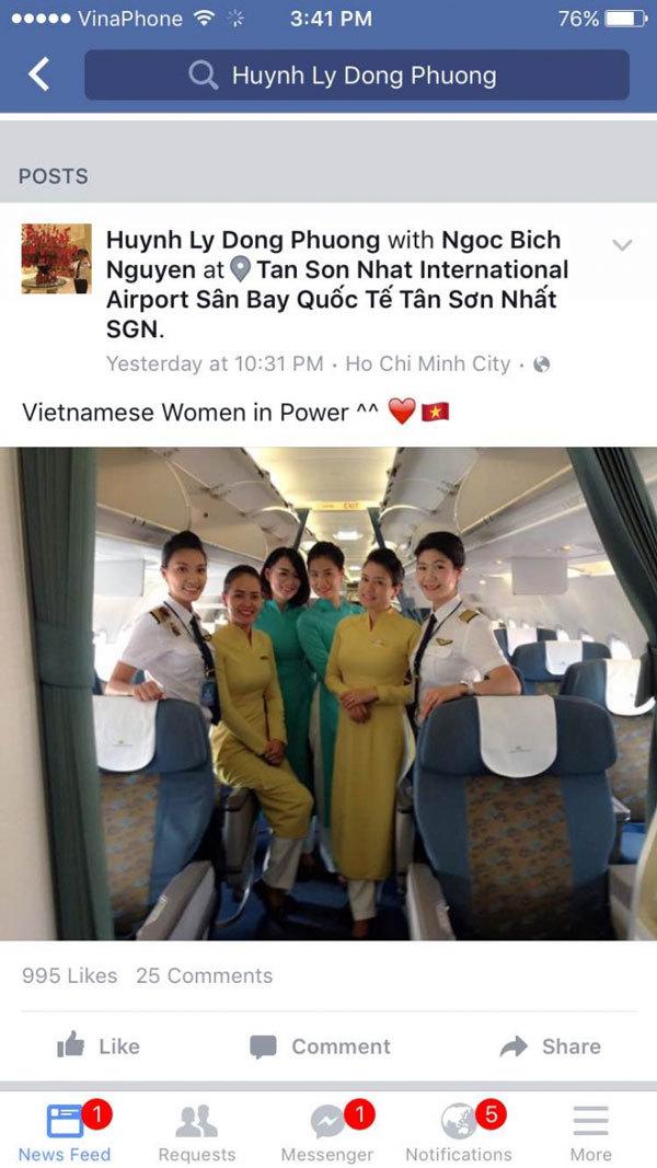Bất ngờ phi hành đoàn toàn 'hotgirl' của Vietnam Airlines
