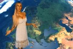 Vẻ đẹp bốc lửa của người đẹp thời tiết Nga