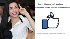 Facebook Hà Hồ đóng đột ngột giữa scandal