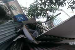 Đình chỉ công trình làm rơi bê tông vào nhà dân