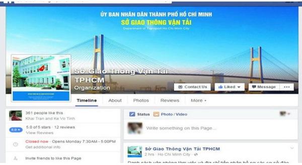 Đinh La Thăng, Bí thư TP HCM, Sở GTVT TP HCM, tiếp nhận thông tin qua Facebook