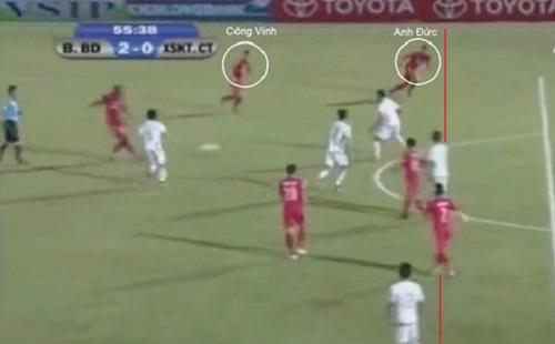 Xem clip Công Vinh bị mất oan bàn thắng