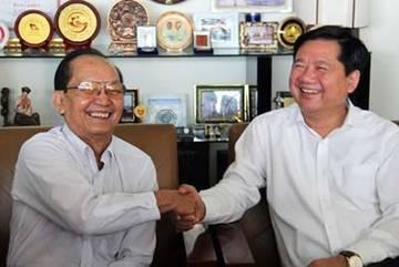 Chiều đầu tuần của Bí thư Đinh La Thăng với GS Trần Đông A