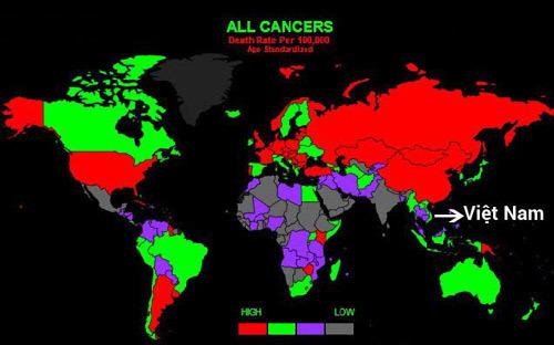 Ung thư ở VN: mắc mới nhiều, tử vong cao