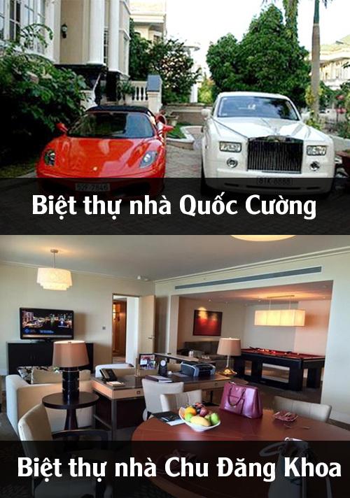 So sánh khối tài sản khổng lồ của Chu Đăng Khoa và Cường Đô la