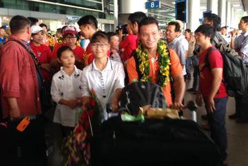 Đội tuyển futsal Việt Nam rộn rã ngày trở về