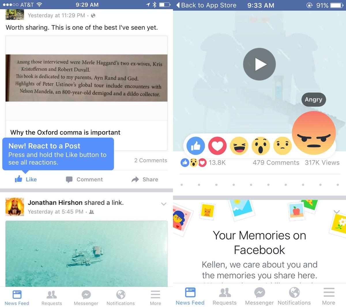 biểu tượng cảm xúc mới trên Facebook, Facebook Reaction, biểu tượng cảm xúc mới, Facebook, nút Like