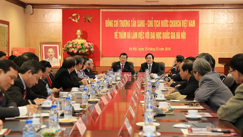 Lưu Văn Bôi, Trương Tấn Sang, ĐHQG Hà Nội, Việt Nam, giáo sư, ĐH Việt Nhật