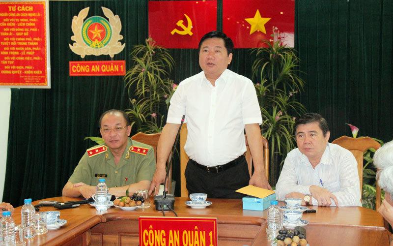 bí thư thành ủy tp.hcm đinh la thăng, giám đốc công an tp.hcm, trung tướng Lê Đông Phong, chủ tịch tp.hcm lê thành phong, kéo giảm tội phạm trong 3 tháng