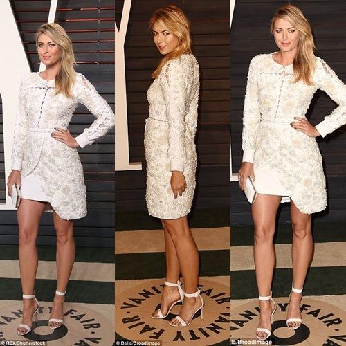 Maria Sharapova khuấy đảo bữa tiệc Oscar