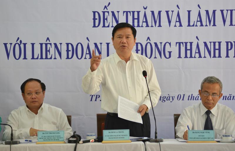 Bí thư Thành ủy TP.HCM Đinh La Thăng, công đoàn