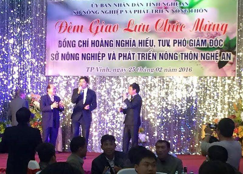 Tỉnh ủy Nghệ An, Sở NN&PTNT nghệ an, phó giám đốc sở mở tiệc linh đình, tiệc hoành tráng mừng thăng chức, hoàng nghĩa hiếu